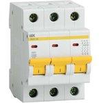 Выключатель автоматический модульный 3п C 2А 4.5кА ВА47-29 IEK MVA20-3-002-C