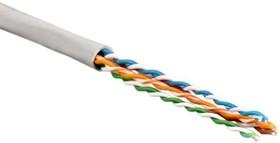 Кабель UTP 4-C5E-SOLID-GY-305 витая пара UTP (U/UTP) кат.5e 4 пары (24 AWG) одножильн. (solid) PVC (305м) сер. Hyperline 41903 (за 1 м)