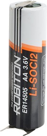 Фото 1/3 ER14505-P1M2 (А316/LR06/AA), Элемент питания литиевый 2400mAh, 14х50.5(1шт) 3.6В