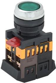 Кнопка ABLFS-22 зеленый d22мм неон/220В 1з+1р (ANDELI)
