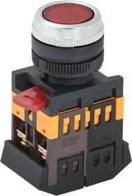 Кнопка ABLFS-22 красный d22мм неон/220В 1з+1р (ANDELI)