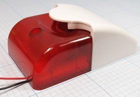 Сирена светозвуковая красная (18~27)В с синхронным включением звука и света, свзвук згс121x 72x49\ 18~27\108/0,3м\ KP-G120R-24 кр IL\KE