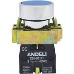 Кнопка XB2-BА61 без подсветки синий 1НО (ANDELI)