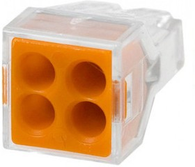 Строительно-монтажные клеммы СМК-104 4 отверстия, 1,0-2,5мм2 (ANDELI)