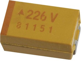 TAJB226K020TNJ, Surface Mount Tantalum Capacitor, 22 мкФ, 20 В, 1411 [3528 Метрический], TAJ Series, ± 10%, -55 °C