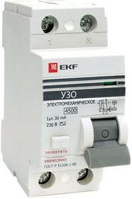 Устройство защитного отключения УЗО ВД-100 2P 16А/10мА (электромеханическое) EKF PROxima