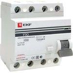 Устройство защитного отключения УЗО ВД-100 4P 40А/30мА (электромеханическое) EKF PROxima