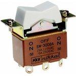Фото 2/2 SW3008A, Switch Rocker (ON) OFF (ON) DPDT Solder Lug Rocker 15A 250VAC 30VDC 30000Cycles
