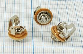 Гнездо Audio Jack моно 2.5мм на панель, 167 гн 2,5моно\2C\пан М4\мет\\AJ-543\