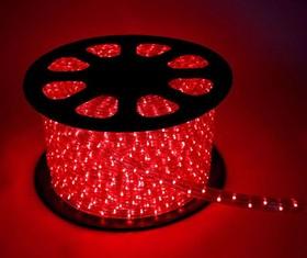 Шнур светодиодный Дюралайт постоянного свечения 2W 220В 1.8Вт/м d13мм (уп.100м) IP44 красн. Космос KOC-DL-2W13-R