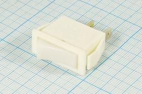 Фото 1/2 Клавишный выключатель белого цвета 250В/15А, с фиксацией 1030 ПКл\ 2T\15А\ON-OFF\\ бел/бел\SB2029\
