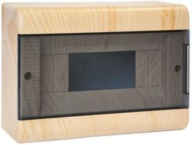 Щиток ОП Тусо 12мод. с прозр. двер. 280х190х93мм IP40 сосна на светл. основе Рувинил 68012-27М