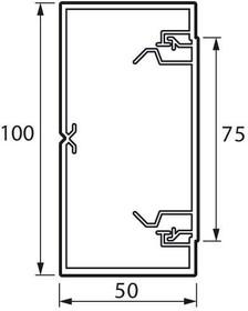 Кабель-канал 100х50 L2000 пластик METRA Leg 638081