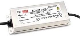 Фото 1/2 ELG-75-24B, AC/DC LED, 24В,3.15А,75.6Вт,IP67 блок питания для светодиодного освещения