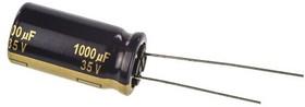 Фото 1/2 EEUFC1V102, Cap Aluminum Lytic 1000uF 35V 20% (12.5 X 25mm) Radial 5mm 1945mA 5000h 105C Automotive Bulk