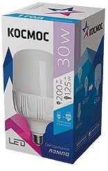 Лампа светодиодная LED 30Вт 220В Е27 D100х185 холодный 2650 лм Космос