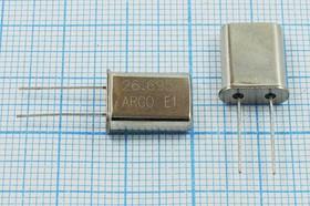 Фото 1/4 кварцевый резонатор 26.695МГц в корпусе HC49U, 1-ая гармоника 26695 \HC49U\30\ 10\ 30/-20~70C\\1Г