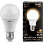 Лампа светодиодная Black A60 7Вт грушевидная 3000К тепл ...