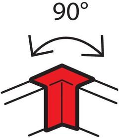 Угол внутренний 100х50мм фикс. METRA Leg 638011
