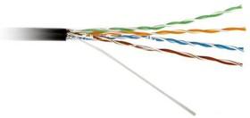 Кабель UTP 4-C5E-SOLID- OUTDOOR-40-500 витая пара UTP (U/UTP) кат. 5e 4х2х0.5 (24 AWG) ож (solid) для внешней прокладки (+60 град.C -40 град