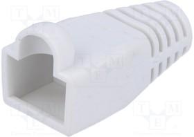 795-601307, Корпус вилки RJ45; 6мм; Цвет: белый