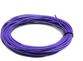 Провод гибкий медн. луж AWG 26 (0,12 мм кв) фиолетовый 10 м