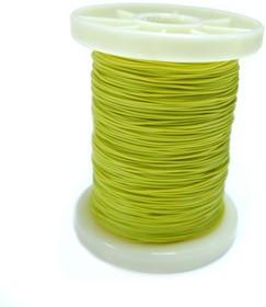 Провод силиконовый 30AWG 0,05 мм кв катушка 100 м (желтый)