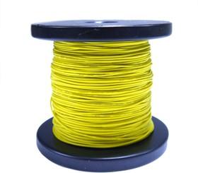 Провод силиконовый 28 AWG 0,08 мм кв катушка 100 м (желтый)