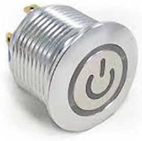 AV1610P612R04,кнопка, Single Pole Single Throw (SPST) Momentary Green LED Push Button Switch, IP67, 19.2 (Dia.)mm, Panel