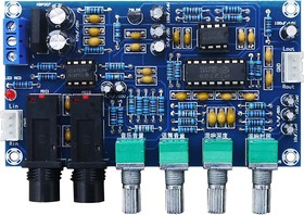 Усилитель XH-M173 предварительный стерео с функцией караоке на PT2399 и NE5532