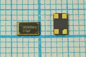 кварцевый резонатор 30МГц в корпусе SMD 4x2.5мм, 30000 \SMD04025C4\12\ 10\ 30/-40~85C\\1Г