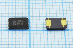 кварцевый резонатор 30МГц в корпусе SMD 6x3.5мм, 2-х контактные, 30000 \SMD06035C2\10\ 30\ 30/-20~70C\FA-365\1Г