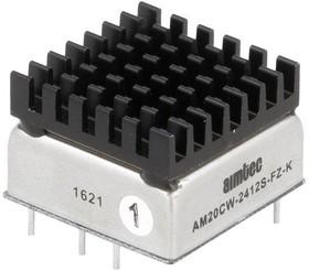 AM20CW-2412S-FZ-K, DC/DC преобразователь, 20 Вт, вход 9..36 В, выход 12 В/1670 мА