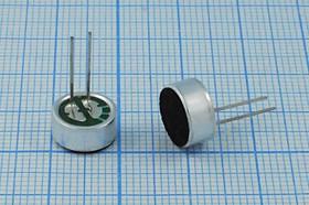 Микрофон электретный с повышенной чувствительностью c выводами, 9.7x4.5мм; №4281а микэ 9,7x 4,5\O\2P\-32\ KPCM-29B-P-52dB