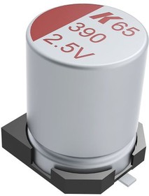 A765BC107M0JLAE025, SM Polymer Alumiinium Cap