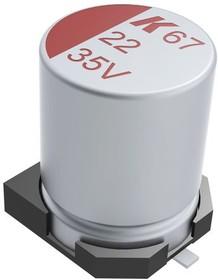 A767MU107M1VLAE029, SM Polymer Aluminium Capa