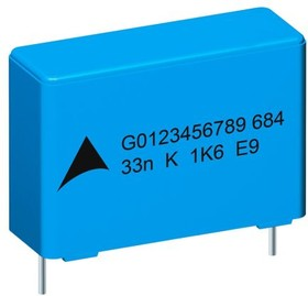B32686A7224K000, 220nF Polypropylene Capacitor PP 1.25 kV dc, 450 V ac ±10% Tolerance B32686 Series