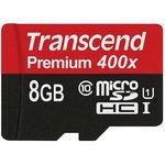 Карта памяти microSDHC UHS-I U1 TRANSCEND Premium 8 ГБ ...