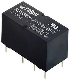 RSM822N-2112-85-S024, Реле 24VDC 2 Form C 125VAC/3А