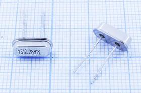кварцевый резонатор 12.288МГц в низком корпусе HC49S, нагрузка 18пФ, 12288 \HC49S3\18\ 50\ 50/-20~70C\49S\1Г