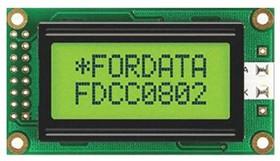 FC0802B00-FHYYBW-51LE, LCD, alphanumeric, 8x2, S
