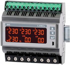 N43 11100E0, Измерительный прибор для трехфазной сети на дин-рейку