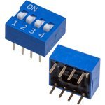 DS-04B-V, DIP переключатель 4 поз. (аналог SWD 1-4 ВДМ 1-4 and DS-04BBU-G)
