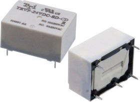 Фото 1/2 TRVF-24VDC-SD-CD-R, реле 24V/ NO:10A NC:6A 250VAC (анлог TRV-24VDC-SC-CD)
