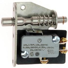 12TL604, Switch Safety Interlock N.O./N.C. SPDT Plunger 15A 250VAC 250VDC 372.85VA Screw Mount Screw