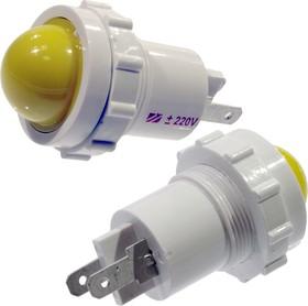 СКЛ12-Ж-2-220, Лампа полупроводниковая коммутаторная (желтая) 220В