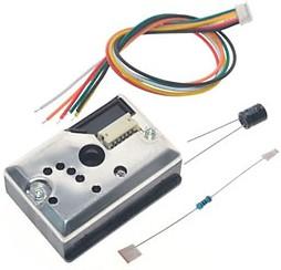 GP2Y1014AU0F, ИК датчик дыма с кабелем 5В 46х30х17,6мм