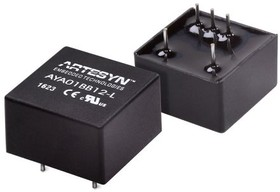AYA01BB48-L, DC/DC CONVERTER ISOLATED +/-12V 3W