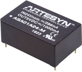 ASA01A48-M, DC/DC Converter Isolated
