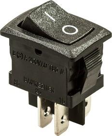 768(778)B, переключатель клавишный черный 4 контакта 250В/6А